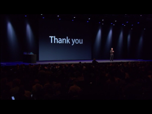 Thank You Keynote 2013